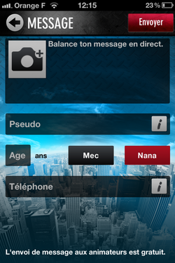 Application FM - o vont les messages envoys aux animateurs ?