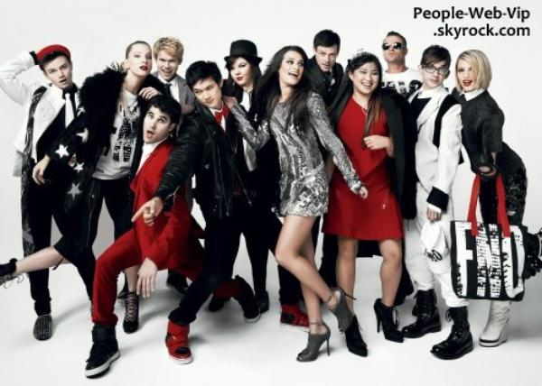 LE GLEE CAST POUR LE MAGAZINE  VOGUE 