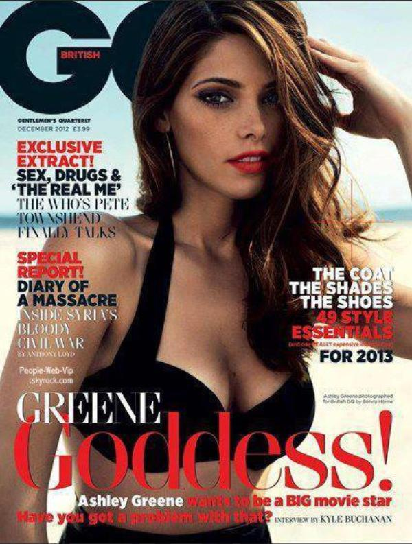  Ashley Greene En couverture du magazine &quot; GQ Uk &quot;